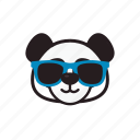 cool, emoticon, glasses, panda icon