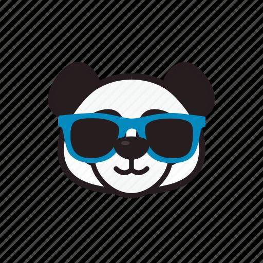 Cool Emoticon Glasses Panda Icon