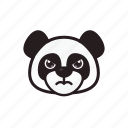 angry, emoticon, panda icon