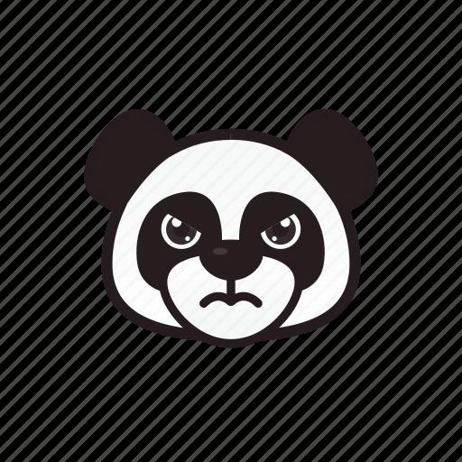 angry, emoticon, panda icon