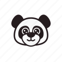 emoticon, happy, panda, smile icon
