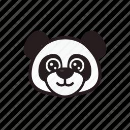 emoticon, happy, panda, smile icon