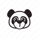 cute, emoticon, panda, smile icon