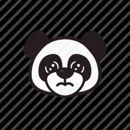 cry, emoticon, panda, sad icon