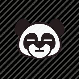 emoticon, face, no expression, panda icon