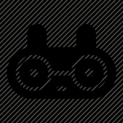 bunny, cute, emoji, emotions, face, nerd, rabbit icon