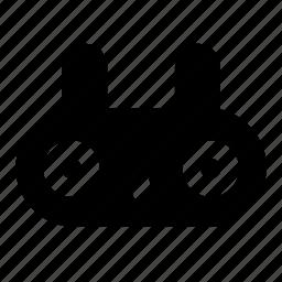 bunny, cute, emoji, emotions, face, rabbit, wondered icon