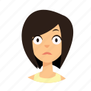 girl, hair, shock, short icon