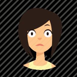 girl, hair, shock, short icon