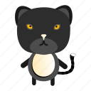 animal, black cat, cat, kitten, pet, wild, zoo icon