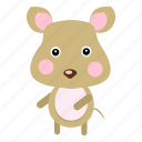 animals, cute, mouse, pet, rat, science, zoo icon