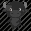 animal, buffalo, grass, milk, nature, pet, wild icon