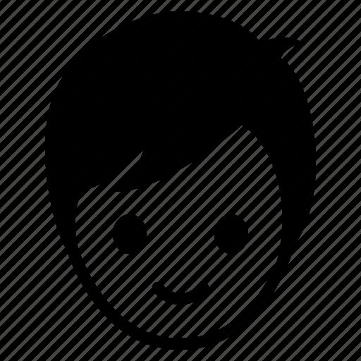 avatar, boy, emotion, face, happy, man icon