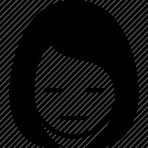 avatar, emotion, face, girl, gloomy, mmm, woman icon