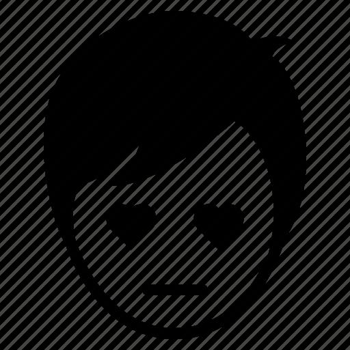 avatar, boy, emotion, face, love, man, mmm icon