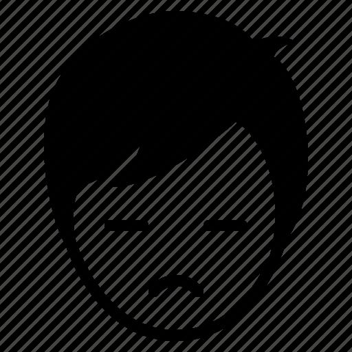 avatar, boy, emotion, face, gloomy, man, sad icon