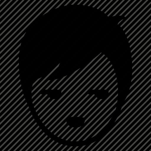 avatar, boy, emotion, face, glare, man, smile icon