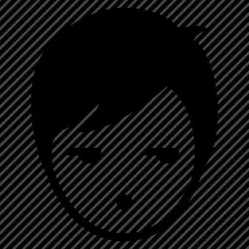 avatar, boy, emotion, face, glare, man, speechless icon