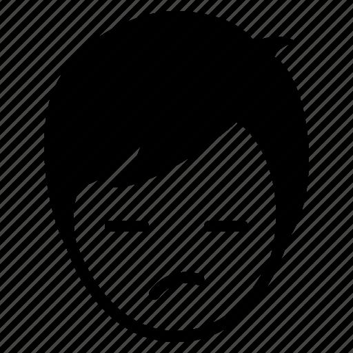 avatar, boy, emotion, face, gloomy, man, wonder icon