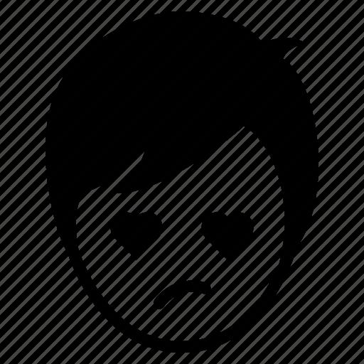avatar, boy, emotion, face, love, man, wonder icon