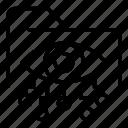 crime, data, eye, folder, hack, hacker, network icon