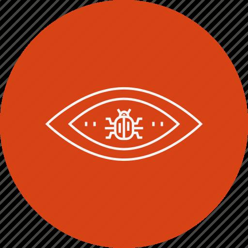 Criminal, cyber crime, eye, hacker, hacking, threat, virus icon - Download on Iconfinder