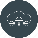 cloud lock, criminal, cyber crime, hacker, hacking, threat, virus icon