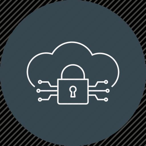 Cloud lock, criminal, cyber crime, hacker, hacking, threat, virus icon - Download on Iconfinder