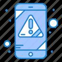alert, error, mobile, virus