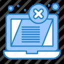 display, error, laptop, threat icon