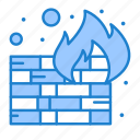fire, firewall, security, wall icon