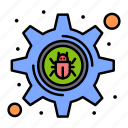 bug, crime, cyber, hacker, setting icon