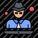 crime, hacker, man, thief