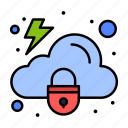 cloud, lock, protection, security