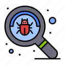 bug, find, search, virus icon