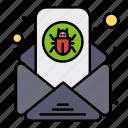 bug, email, letter, virus