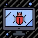 bug, monitor, screen, security
