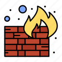 fire, firewall, security, wall