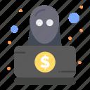 detective, spy, robbery, hacker icon
