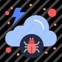 cloud, infected, malware, virus