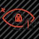 crime, cyber, dectector, eye, internet icon