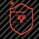 crime, cyber, internet, sheild icon