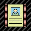 crime, cyber, contract, cv, resume icon