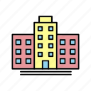crime, cyber, building, business, corporation icon