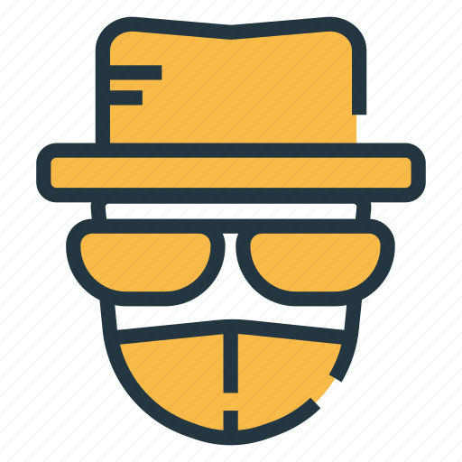 anonymous, criminal, cyber, hacker, security, spy, thief icon