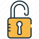 password, privacy, protection, safety, safety off, unlock, vulnerable icon