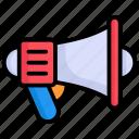 announcement, megaphone, marketing, advertising, promotion, loudspeaker, bullhorn