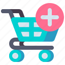 add, cart, shopping, to