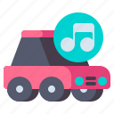 car, speakers, vehicle icon
