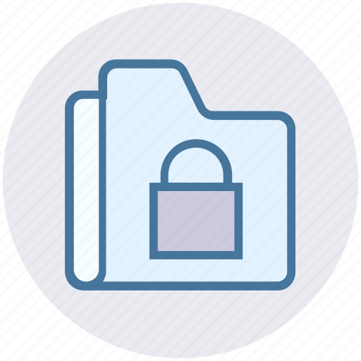 archive, files, folder, lock, private, storage icon